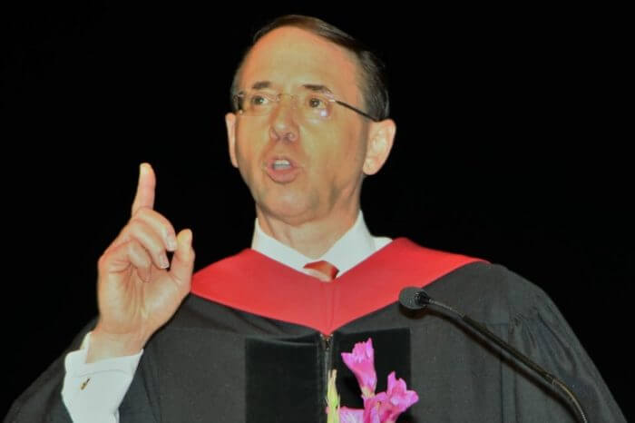Rod Rosenstein Steers Clear Of Trump's 'Witch Hunt' At Campbell Law Graduation