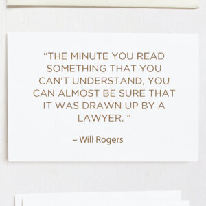 The minute you read something that you can
