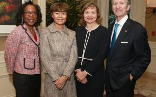 BHBA President LaVonne Lawson with honorees Kelli Sager and Justice Audrey B. Collins, and BHBA CEO Marc Staenberg | PHOTO CREDIT: Lee Salem