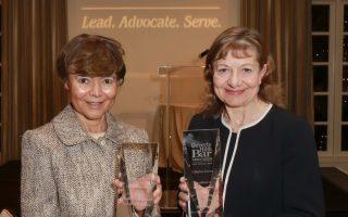 Justice Audrey B. Collins and Kelli Sager | PHOTO CREDIT: Lee Salem