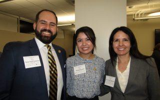 Oscar René Gutierrez, Adriana Gonzalez and Pamela Villanueva