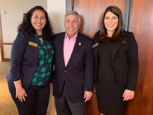 JWLA President-Elect Sarah Mannion, Councilman Tommy Hazouri, and President Jamie Karpman