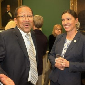 Victor Boone and SCONC Associate Justice Anita Earls