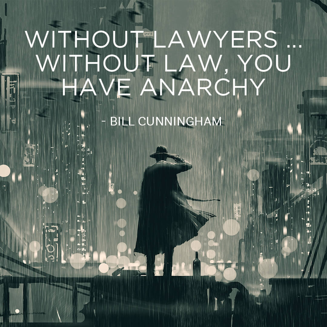 without lawyers without law, you have anarchy.