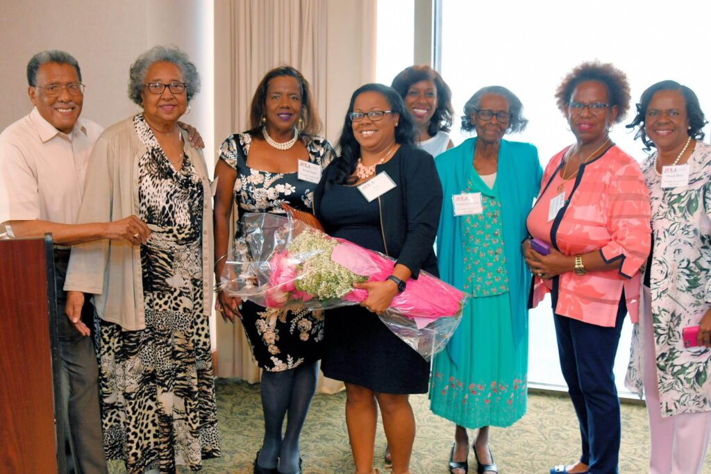 2019 Woman of Year Joni Poitier (center) with her family.