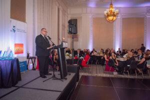 Immediate Past-President Juan Morado Jr. addresses the gala.