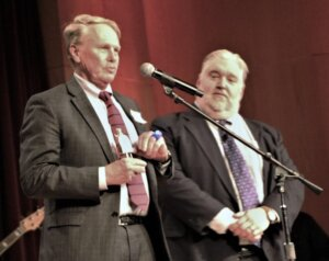 Dean J. Richard Leonard accepted the Golden Limine on behalf of Campbell for the Best Law School in Raleigh.