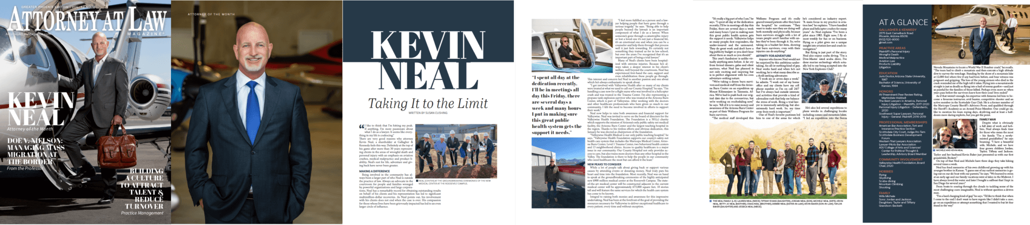 Kevin Neal feature in Attorney at Law Magazine