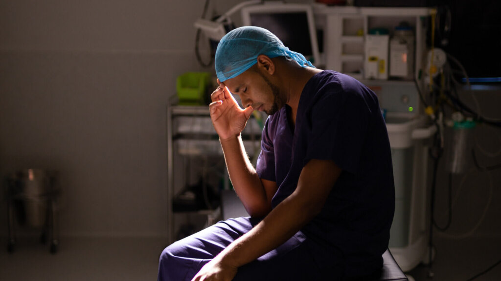 Doctor feeling emotional after a Misdiagnosis