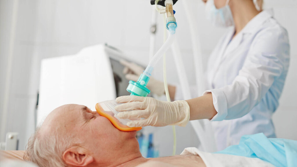 Doctor Giving Anesthesia to Patient