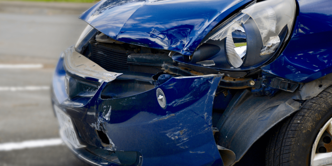 Blue car accident in Williamsport, PA