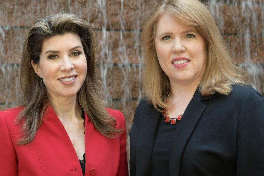 Angela Hunt and Lindsay Kramer