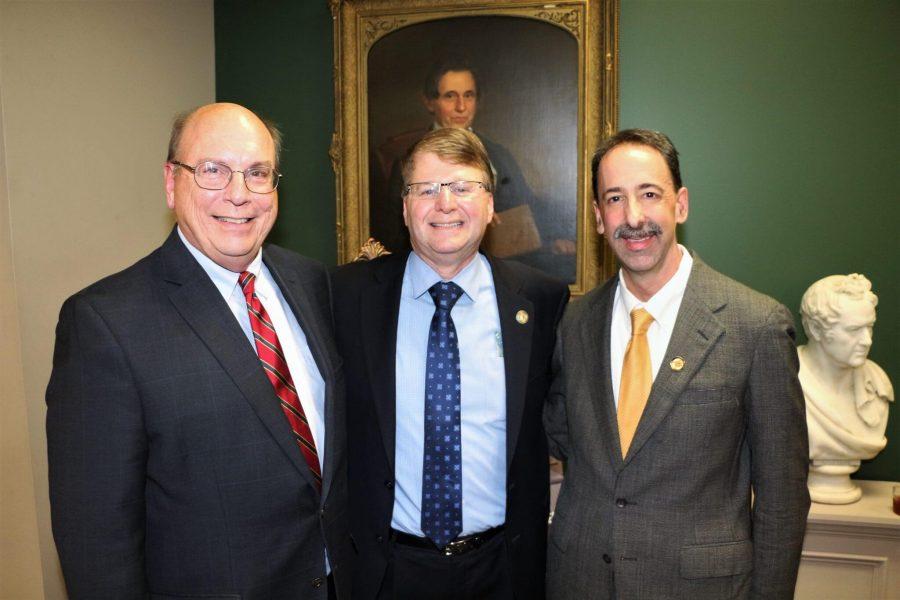 Tom Davis, Mark Martin and Associate Justice Mark Davis
