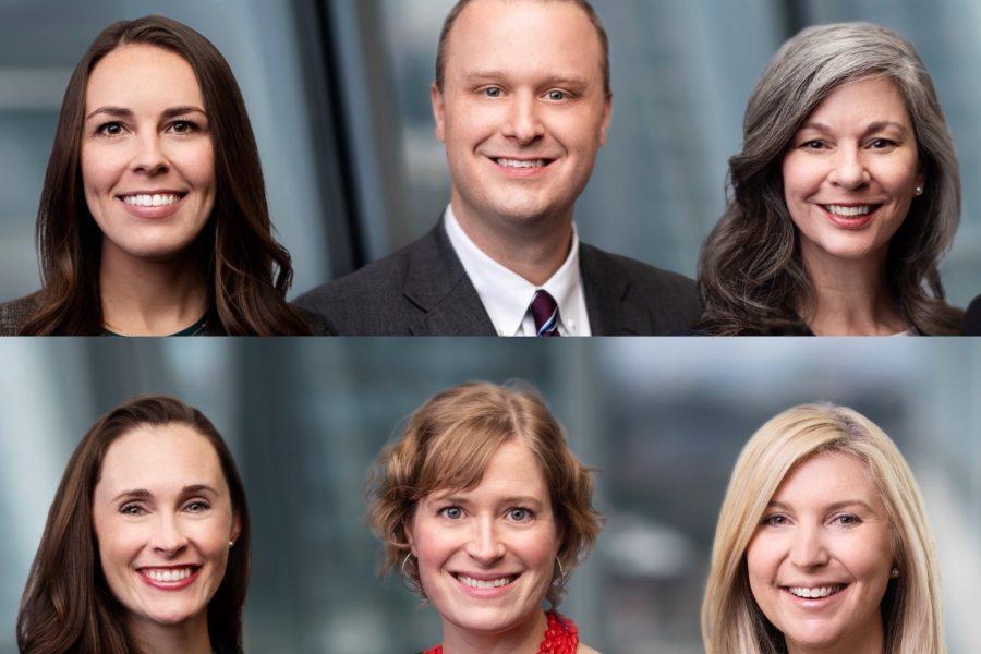 Top-row-Taylor-P.-Scott-from-left-John-P.-McGehee-and-Kyra-F.-Howell-Bottom-row-Kacie-McRee-from-left-Mary-OKelley-and-Elizabeth-E.-Sauer