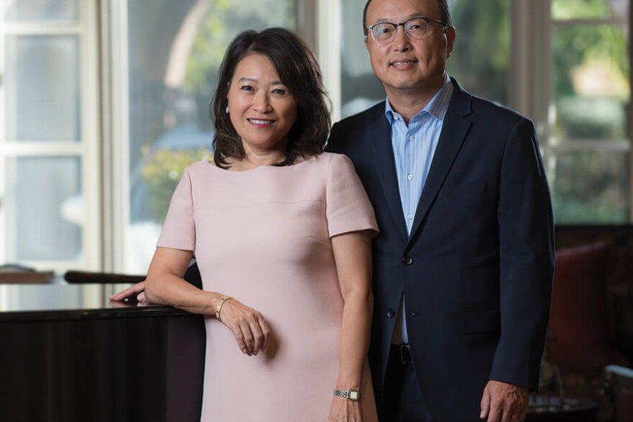 Eugene and Carol Choi, UCI trustees.. Steve Zylius/UCI