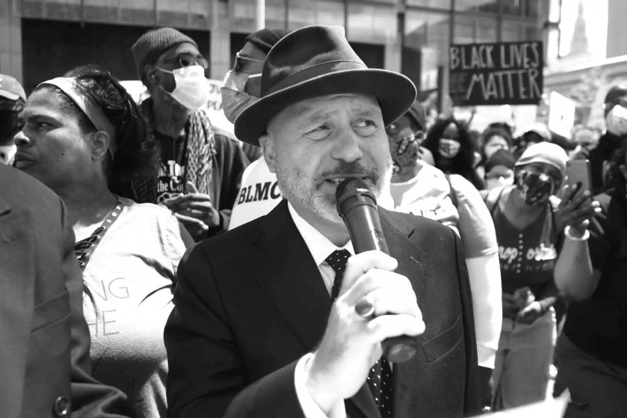 Ian Friedman at I Can't Breathe rally
